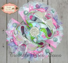 A Princess and Her Knight Stacked boutique hair bow