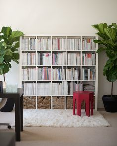 Wall of reads. // Office Decorating Ideas From Ruby Press