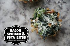 Bacon, Spinach & Feta Bites | Mix and Match Mama