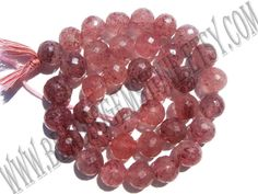 Semiprecious Beads, Strawberry Quartz (Russian) Faceted Round (Quality A) / 9.50 to 10.50 mm / 36 cm / STRA-021 by beadsogemstone on Etsy #strawberryquartzbeads #russianbeads #roundbeads #gemstonebeads #semipreciousstones #semipreciousbeads #briolettes #jewelrymaking #craftsupplies #beadsofgemstone #stones #beads