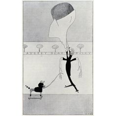 Aubrey Beardsley By Max Beerbohm 1872 To 1956 Canvas Art - Ken Welsh Design Pics (11 x 18)