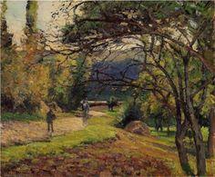 The Little Bridge, Pontoise - Camille Pissarro