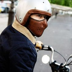 Slim Leather Motorcycle Mask #Cool, #Leather, #Mask, #Motorcycle