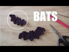 crochet scull motif かぎ針編み ガイコツのモチーフ 코바늘 해골 모티브 뜨기 - YouTube