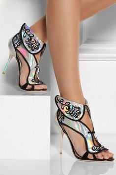 Sophia Webster Leoni Holographicleather Sandals ♥