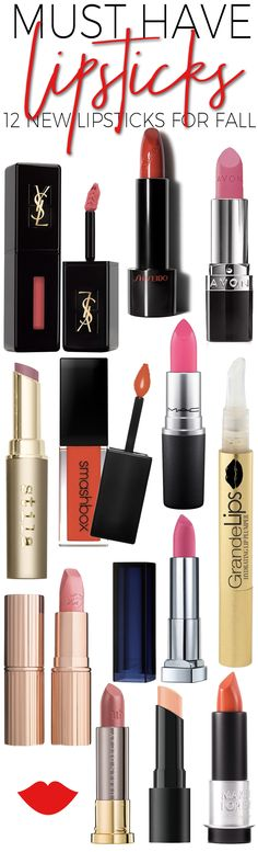 12 New Lipsticks You Need in Your Makeup Bag this Fall.