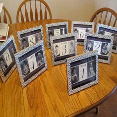 5 special rehearsal dinner ideas rehearsal dinners dinner wedding table number ideas at this wedding each table number had photos of the bride and groom at that age sciox Images