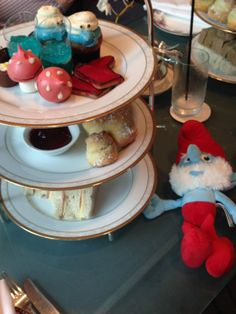 Melba Restaurant at the Langham Hotel in Melbourne, Australia regularly hosts kids themed high teas. They change the theme every couple of months, this one was the Smurf High Tea - our review by Wilson Family Travel Blog Langham Hotel, Us Travel, Family Travel, Melbourne Australia, High Tea, Hotel Reviews, Teas, Adventure Travel, Family Trips