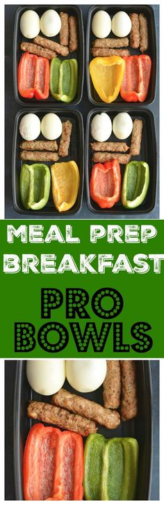 Meal Prep Breakfast PRO Bowls! Meal prep breakfast like a PRO with these protein + produced packed make ahead breakfasts. Prep the food over the weekend and toss them in a meal prep container to take with you on the go. Breakfast never got easier or healt