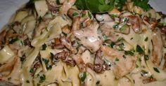 Champignons mit Sahnesoße zu Semmelknödel oder Pasta/Nudeln