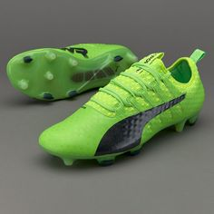 Puma evoPOWER Vigor 1 FG - Green Gecko/Puma Black/Safety Yellow