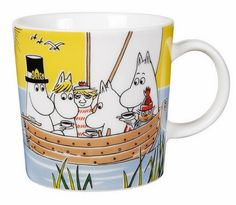 Moomin Mug Sail With Niblings and Too-Ticky - Tove Slotte-Elevant - Arabia… Moomin Shop, Moomin Mugs, Pots, Tove Jansson, Cool Mugs, Nordic Design, Scandinavian Design, Marimekko, Vintage Pottery
