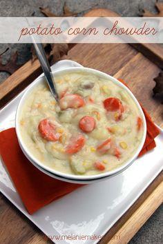 Potato Corn Chowder | @Melanie Bauer at Melanie Makes