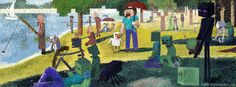 "Inception, Minecraft, and Pointillism - Nick Ladd's Minecraft themed parody of ""A Sunday Afternoon on the Island of La Grande Jatte"" by Georges Seurat."
