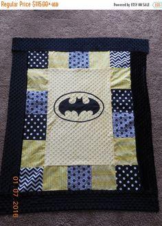 Batman Quilt...based on an art print. HST blocks with Batman ... : batman quilt pattern - Adamdwight.com