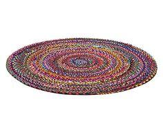 Handgetufteter Teppich Rachel, Ø 140 cm