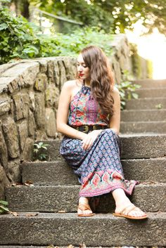 New Look // Styling a Maxi Dress + Transitioning to Fall Fashion - The Most Happy