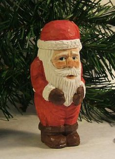 Handmade Wood Carving Traditional Santa by ClaudesWoodcarving #integrityTT