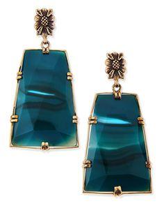 Stephen Dweck Blue Agate Trapezoid Earrings