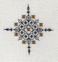 Snowflake Gold designed by Liz Almond of Blackwork Journey