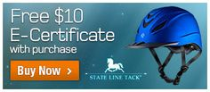 Get a free $10 e-certifiicate from @Statelinetack.com.com.com with the purchase of any Troxel Intrepid helmet!  http://www.statelinetack.com/item/troxel-intrepid-helmet/E005643/