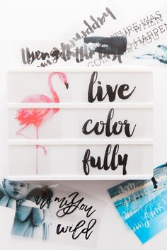 I know you've seen the Heidi Swapp Light Box — right? If you haven't, let me introduce you: It's a darling, illuminated marquee board perfectly sized for a kitchen, studio, …