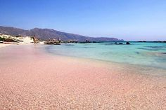 The pink sands of Elafonisi Beach, Crete. Image by Miguel Virkkunen Carvalho / CC BY 2.0