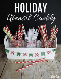 How-to: Holiday DIY Utensil Holder Caddy - Live Craft Love - The Darice Craft Blog