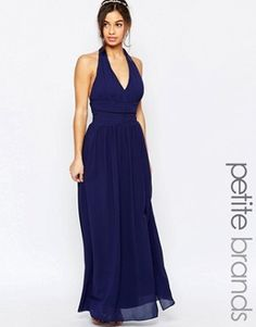 TFNC Petite WEDDING Halter Chiffon Maxi Dress