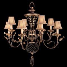 Fine Art Lamps Villa 1919 156140ST Eight-Light 40'' Wide Grand Chandelier | FA156140ST