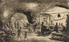 <em>Chislehurst Caves</em>, 1941, by Henry Carr.