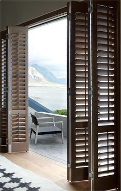 Our quality wood and timber shutters will provide the ultimate in light and privacy control. Experience the insulation, longevity and beauty of Plantation Timber Shutters® today. Sliding Door Shutters, Interior Window Shutters, Interior Windows, Shutter Doors, Sliding Glass Door, Security Shutters, Home Design, Interior Design, Design Ideas
