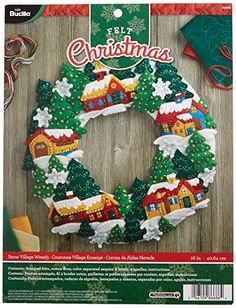 Bucilla Felt Applique Wreath Kit, 16 by 16-Inch, 86686 Sn... https://www.amazon.com/dp/B01CGI00YO/ref=cm_sw_r_pi_dp_x_ffnNybAW853G6