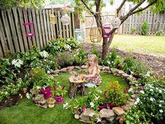How to Create a Magical Backyard Fairy Ring Transform a patch of grass into an oh-so-enchanting play Garden Crafts, Garden Projects, Garden Art, Garden Design, Backyard Projects, Yard Art Crafts, Garden Deco, Kids Fairy Garden, Dream Garden