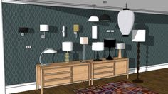 Various domestic lights - 3D Warehouse
