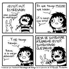 Estoy muy estresada →  #humorgrafico #imagenesdivertidas #ragecomics