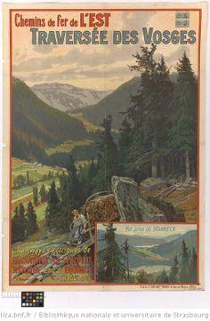 Chemins de fer de l'Est. Traversée des Vosges : tramways électriques de Gérardmer-La Schlucht-Munster-emb.t du Hohneck... / G. Daubner - 1