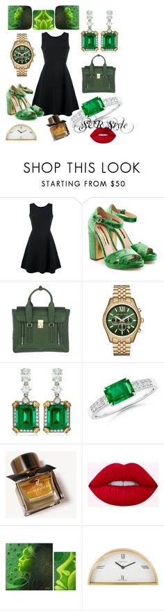 """""""SVR style.....🍀🍀🍀🌳🌳🌳"""" by svrrvs ❤ liked on Polyvore featuring Emporio Armani, Rupert Sanderson, 3.1 Phillip Lim, Michael Kors, CARAT* London, Burberry, NOVICA and Tiffany & Co."""