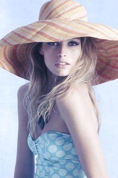 hat, swim, summer