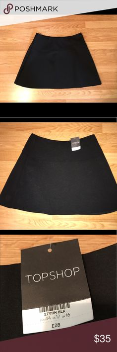 Black TopShop Skirt New with Tags!! Topshop Skirts Midi