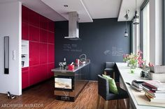 Red kitchen paint ideas one wall red paint ideas kitchen paint color ideas how to refresh Loft Beds For Teens, Bedroom Decor On A Budget, Red Cabinets, Cabinet Fronts, Kitchen Paint Colors, Red Kitchen, Cuisines Design, Küchen Design, Apartment Design