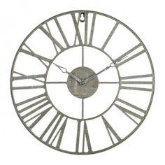 Klok Vintage Bruin - Wanddecoratie - Eminza Industrial, Clock, Home Appliances, Wall, Home Decor, Grey, Gift Cards, Watch, Tree Furniture