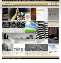 Parlament Televízió - honlap by Eszter Szabó, via Behance