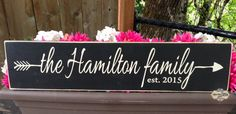 Family Established Sign arrow established date by SignsbyJen