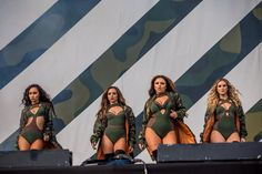 Little Mix perform with Craig David and Lethal Bizzle at V Festival…