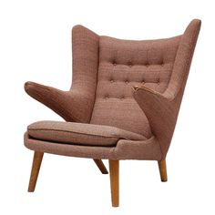 Hans Wegner Papa Bear Chair | From a unique collection of antique and modern lounge chairs at http://www.1stdibs.com/furniture/seating/lounge-chairs/