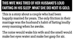 She Figured Out How To Stop Her Husband From Farting …. Gross And GOLD