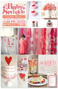 A Valentines Day inspired Sprinkle - this theme works great for a shower or birthday party too!