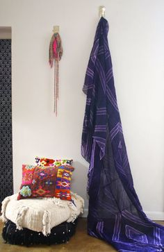 Use this stunning tribal fabric to create some African style! Use for curtains, canopies, table clothes, throws on beds, etc. Hand dyed in Mauritania. Enjoy this pattern of rich lavender enveloped by deeper shades of purple. So beautiful! Available at Maryam Montague online Souk!  http://www.mmontague.com/textiles-1/7q3o635x603cif3ih8brmcxeam6v85