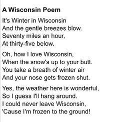 A Wisconsin poem...